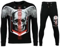 Golden Gate Trainingspakken Heren - Skinny Joggingpak - Ster Skull - Zwart - Maat: XS