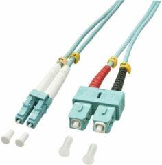 LINDY 46391 Glasvezel Aansluitkabel [1x LC-stekker - 1x SC-stekker] 50/125 µ Multimode OM3 2.00 m