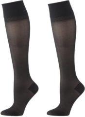 HEMA 2-pak Licht Ondersteunende Kniekousen Zwart (zwart)