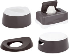 Donkergrijze Luma Toilet trainingsset 4delig Dark Grey