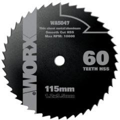 WORX Cirkelzaagblad HSS Ø 115x9 mm, Z 60 W-tanden