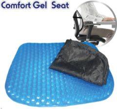 Blauwe Orange Donkey Miracle Living Comfort Gel Seat - Comfort Kussen - Massage Kussen - Comfort Gel Cusion sitter met hoes – gelkussen pillow – extra ondersteunend zitkussen – ideaal voor autostoel, bureaustoel, rolstoel en zitstoel.