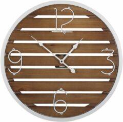 Beliani ARRIAGA - Wandklok - Donkere houtkleur - MDF