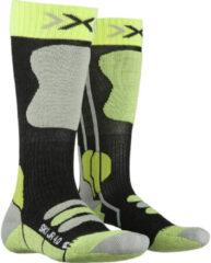 Antraciet-grijze X-socks Skisokken Junior Polyamide Antraciet/groen Mt 31-34