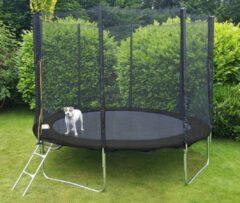 Viking Sports Trampoline 244 cm zwart - met veiligheidsnet - tot 110 kg