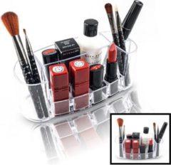Make up Organizer met 8 Vakken – Make-up Organizer Transparant - Sieraden Makeup Cosmetica Opbergsysteem - Display Houder voor Lippenstift / Nagellak / Brushes / Visagie - Make up kwasten / Sieraden etc. - Decopatent®