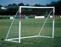 Witte Taktisport UPVC Jeugdgoal - voetbaldoel 2.45m x 1.85m - van licht en onbreekbaar kunststof