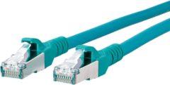 Metz Connect 1308453055-E RJ45 Netwerk Aansluitkabel CAT 6A S/FTP 3.00 m Groen Snagless