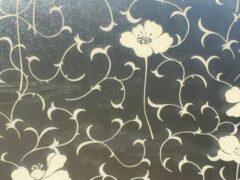 Merkloos / Sans marque Decoratieve raamfolie   bloemend motief   zelfklevend   68 x 300   krasvast   uniek design