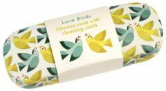 Groene Rex londen Brillenkoker Love Birds - Vogels van Rex London