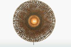 Zwarte GOOD&MOJO Good & Mojo Wandlamp - BALI - Bamboe - Product Gloeilamp: Nee / Product Grootte: Large (87 x 87 x 20cm)