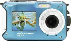 GoXtreme Reef Blue Digitale camera 24 Mpix Blauw Full-HD video-opname, Waterdicht tot 3 m, Onderwatercamera, Schokbestendig, Met ingebouwde flitser