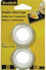 3M FT-5100-4927-1 7100126761 Dubbelzijdige tape Scotch 665 Transparant (l x b) 6.3 m x 12 mm 2 rol/rollen