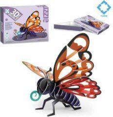 FDBW Vlinderpuzzel voor kinderen – 3D - Insecten | Kinderpuzzels 3 jaar | 3D Puzzel Insecten | Puzzel voor kinderen van 3 jaar - Vlinder