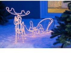 MERXX Silhouette 3D LED, Rentier mit Schlitten