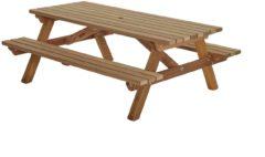 Bruine Talen Buitenmeubelen Picknicktafel hardhout 200cm