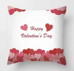 Sierkussenhoes Kussenhoes Valentijn - Love - Liefde - Hartjes - Sierkussen - 45x45 cm