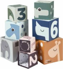 Done by Deer Stapelblokken - Stacking Cubes Deer Friends Colour Mix