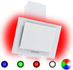 Witte VidaXL Afzuigkap RGB-LED 60 cm roestvrij staal en gehard glas