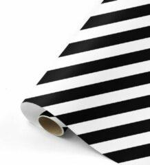 Studio Stationery Cadeaupapier Bold Lines zwart/wit 70x200 cm