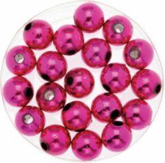 Merkloos / Sans marque 240x stuks sieraden maken glans deco kralen in het roze van 10 mm - Kunststof reigkralen voor armbandjes/kettingen