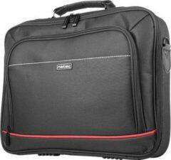 Zwarte Natec Natex Oryx Laptoptas van 43cm x 34cm voor 17,3 inch laptops