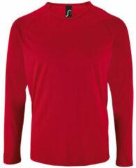Rode T-Shirt Lange Mouw Sols SPORT LSL MEN