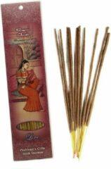 Prabhuji's Gifts Wierooksticks handgerold, 'Ragini Gaudi' met veenreukgras en oosters boeket