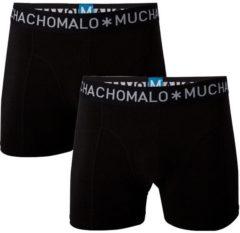 Muchachomalo Basiscollectie Heren Boxershorts - 2 pack - Zwart - Maat S