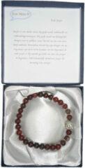 Een Wens Halfedelstenen Armband in Geschenkdoos Rode Jaspis