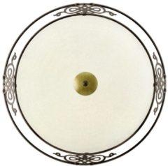 Gouden EGLO Mestre - Plafonniere - 3 Lichts - Ø475mm. - Antiek-Bruin, Goud - Wit