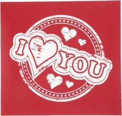 Witte Creotime screen stencil I love you 20 x 22 cm