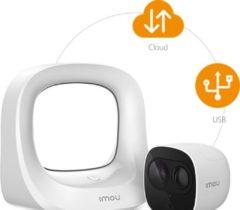 Witte Imou Cell Pro (1HUB + 1 Camera) IP-beveiligingscamera Buiten Plafond/muur 1920 x 1080 Pixels