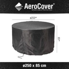 Antraciet-grijze Gardenset hoes - dia 250cm x 85h - Aerocover