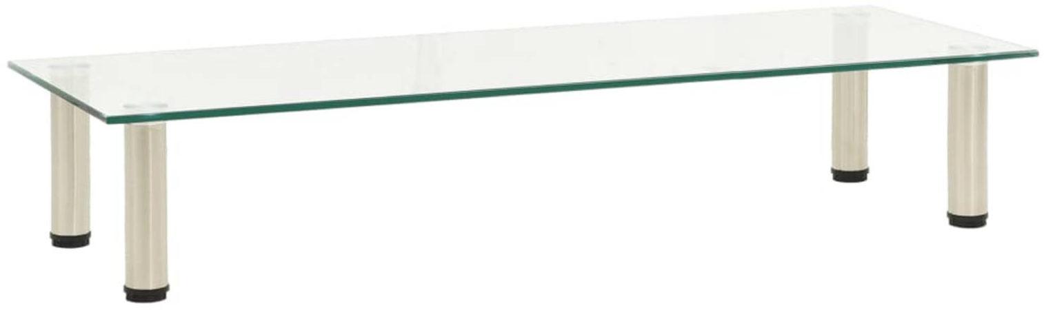 Afbeelding van VidaXL Tv-meubel 100x35x17 cm gehard glas transparant VDXL 322769