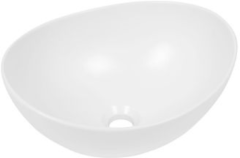 Witte Plieger Scale keramische opbouw waskom ovaal 39x32x17.5cm mat wit 0276146