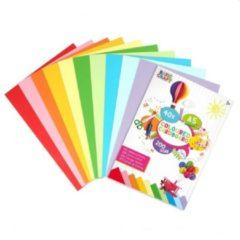 Craft Sensations Gekleurd karton | Formaat A5 | 40 vellen | 200 gram | 10 verschillende kleuren Karton | Papier | knutselen voor kinderen