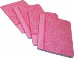 Pergamy Mandala Schrift, Ft A5, Gelijnd, 48 Bladzijden, Roze