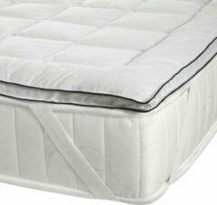 Witte Hibboux Cozzy Cotton matrasbeschermer 180x200 katoenen matrasbeschermer