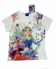 Witte Disney Frozen Disney Frozen Meisjes T-shirt Maat 110