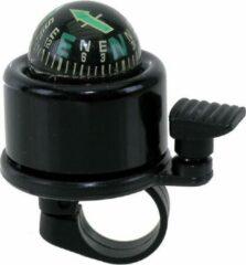 Fietsbel Edge World Mini - met kompas - zwart