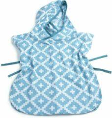 Blauwe KipKep Blenker Poncho - maat S (1-3 jaar) - Niagara Blue - hydrofiel katoen