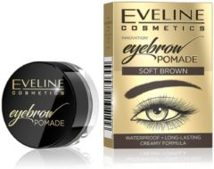 Bruine Eveline Cosmetics EVELINE Eyebrow Pomade pomada do brwi Soft Brown