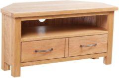 Bruine VidaXL Tv-meubel met lade 88x42x46 cm massief eikenhout