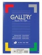 Gallery witte etiketten ft 48,9 x 29,6 mm (b x h), rechte hoeken, doos van 3.600 etiketten