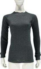 Antraciet-grijze Merkloos / Sans marque Thermo shirt antraciet lange mouw voor dames M antraciet