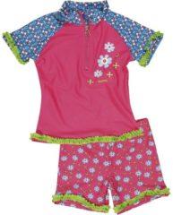 Fuchsia Snapper Rock Playshoes - UV zwemsetje voor kids - Bloem maat 98/104