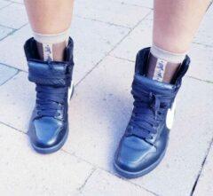 Donkerblauwe Tqaser Dream Believe Dare Do Zwart sokken - one size