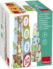Jumbo Spiele GmbH Goula Stapelblokken - Bosdieren - 10 Kubussen