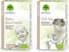 Neuner's - BIO - 1x Borstvoedingsthee + 1x Babythee - werkzame biologische kruidenthee voor moeder en kind - pakket van 2 doosjes x 20 zakjes - goed voor 20 liter thee - Puur Natuur - kruideninfusie